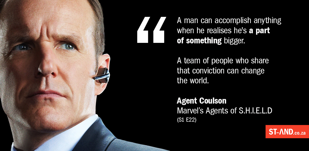 Agent Coulson Teamwork Quotation