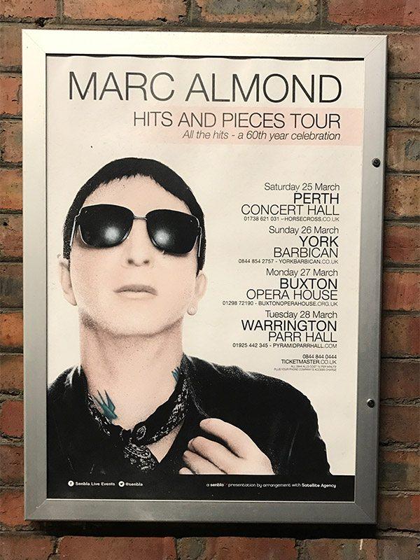 Marc Almond, creativity in Warrington