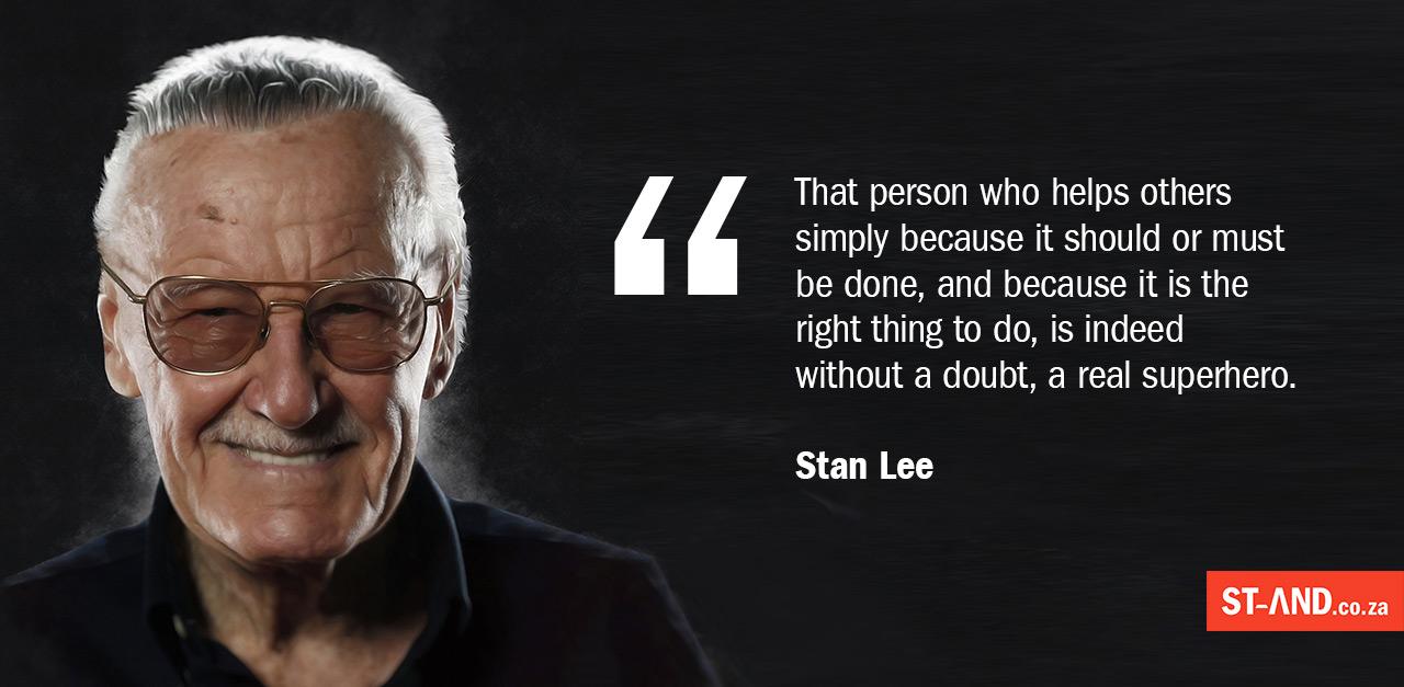 Stan Lee Hero Quote
